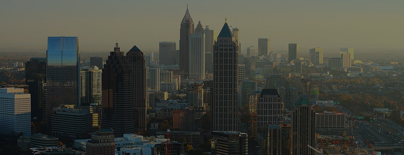 Skyline of the city of Atlanta